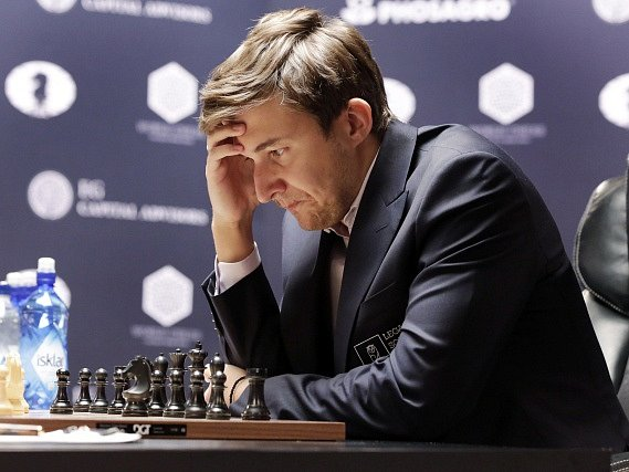 Ruský šachista Sergej Karjakin.