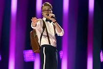 Mikolas Josef během semifinálového vystoupení na Eurovizi