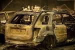 Lesní požáry v Kalifornii.