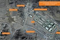 Satelitní snímky údajné saúdskoarabské raketové základny