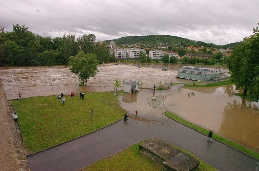 Povodeň na Berounce v roce 2013.