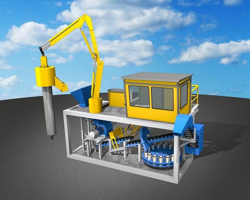 Automatický vzorkovač uhlí z vagonů