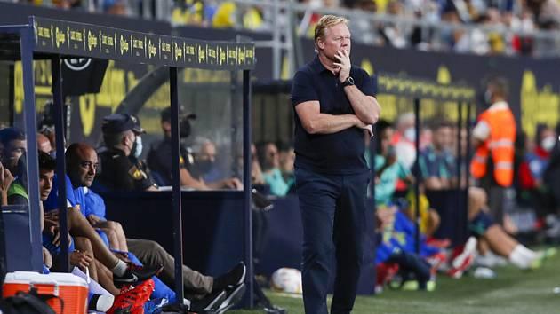 Trenér fotbalistů Barcelony Ronald Koeman.