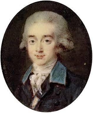 Hrabě Hans Axel von Fersen v mládí. Autorem obrazu je portrétista Noël Hallé.