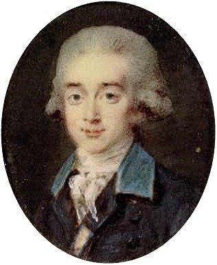 Hrabě Hans Axel von Fersen v mládí.