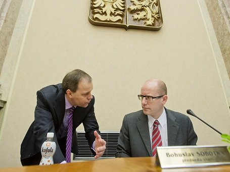 Marcel Chládek a Bohuslav Sobotka