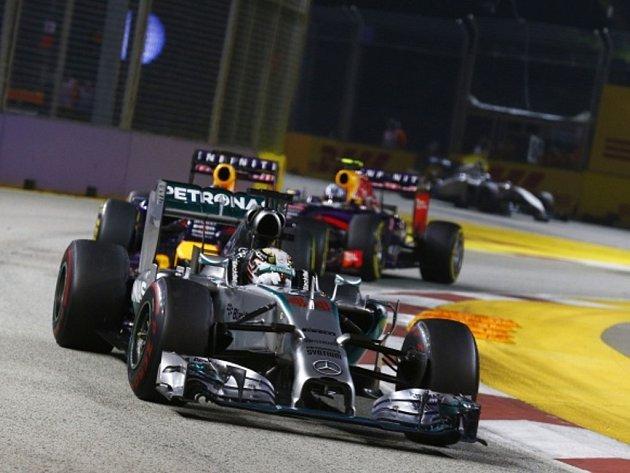 Lewis Hamilton ve Velké ceně Singapuru.