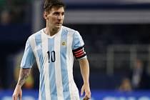 Kanonýr Argentiny Lionel Messi.