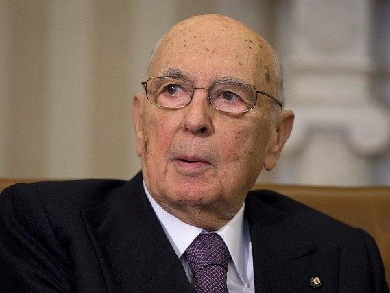 Italský prezident Giorgio Napolitano