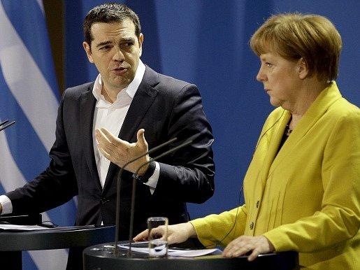 Alexis Tsipras a Angela Merkelová