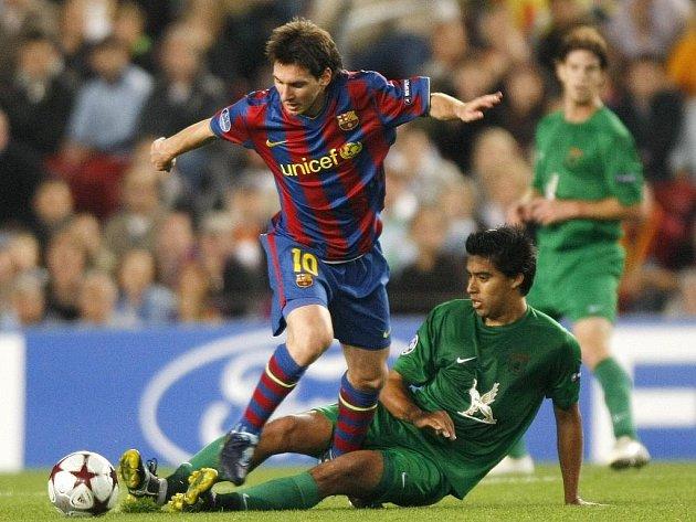 Proti Kazani neodvrátil překvapivou prohru v Lize mistrů ani hvězdný Lionel Messi (vlevo).