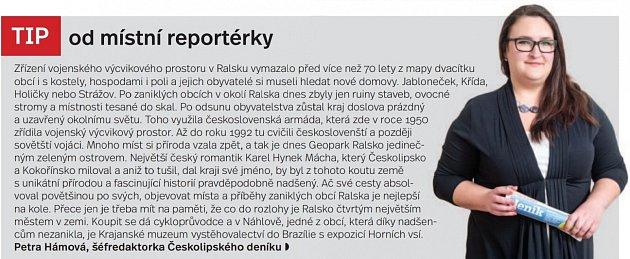 Tip od místní redaktorky, Kokořínsko a Máchův kraj - Infografika