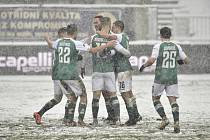 Utkání 16. kola první fotbalové ligy: FK Jablonec - 1. FK Příbram, 24. ledna 2021 v Jablonci nad Nisou.