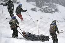 Lindsey Vonnová po zranění v Andoře