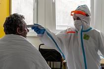 Covidové oddělení nemocnice v Roudnici nad Labem