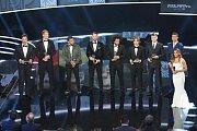 Členové nejlepší fotbalové jedenáctky roku 2016.
