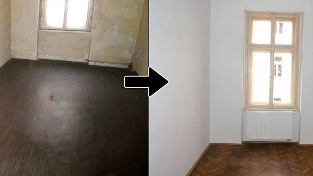 Praha 7 opravila zchátralé obecní byty.