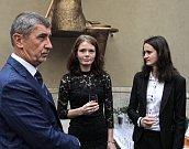 Setkání olympioniků s Andrejem Babišem na Ministerstvu kultury.