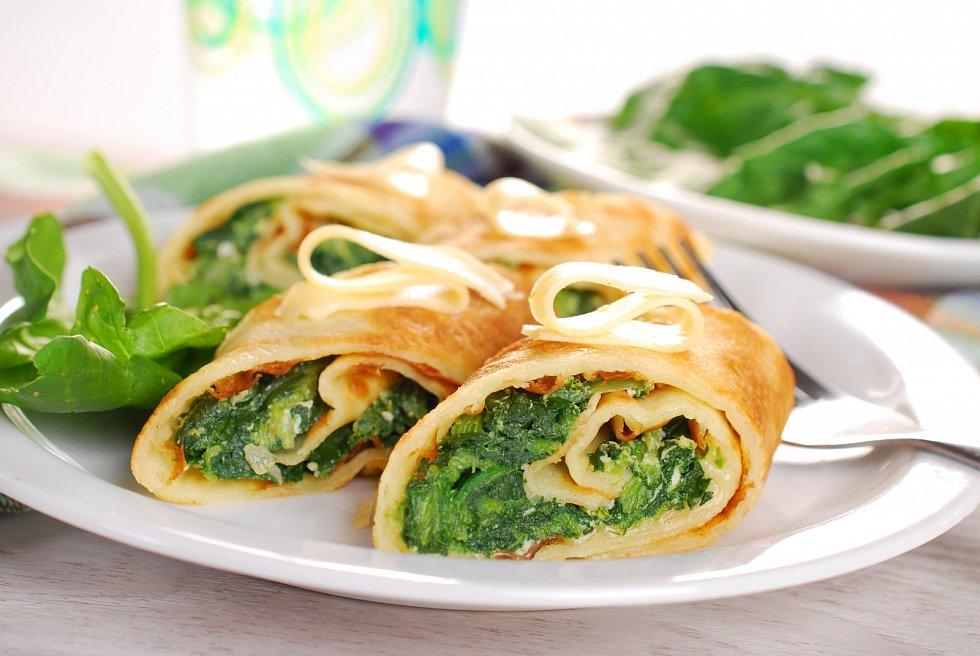 Špenátové omelety