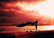 Číslo 8: Moje krásná žena při západu slunce
