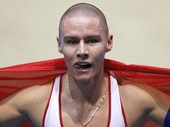 Pavel Maslák se stal v Sopotech halovým mistrem světa na 400 metrů. Pro zlato si doběhl v českém rekordu.