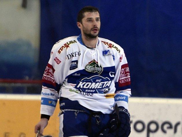 Kapitán hokejové Komety Brno Leoš Čermák.
