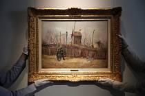 Obraz malíře Vincenta van Gogha pojmenovaný Pouliční výjev na Montmartru na snímku aukčního domu Sotheby's z 25. února 2021