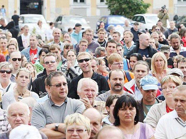 Protesty ve Varnsdorfu.