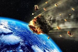Dopad meteoritu.