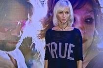 KARIN BABINSKÁ. Tisková konference k filmu Karin Babinské, Křídla vánoc, proběhla 31.října v pražském kině CineStar Anděl.
