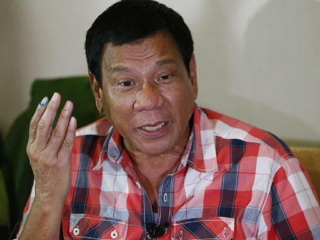 Filipínský prezident Rodrigo Duterte.