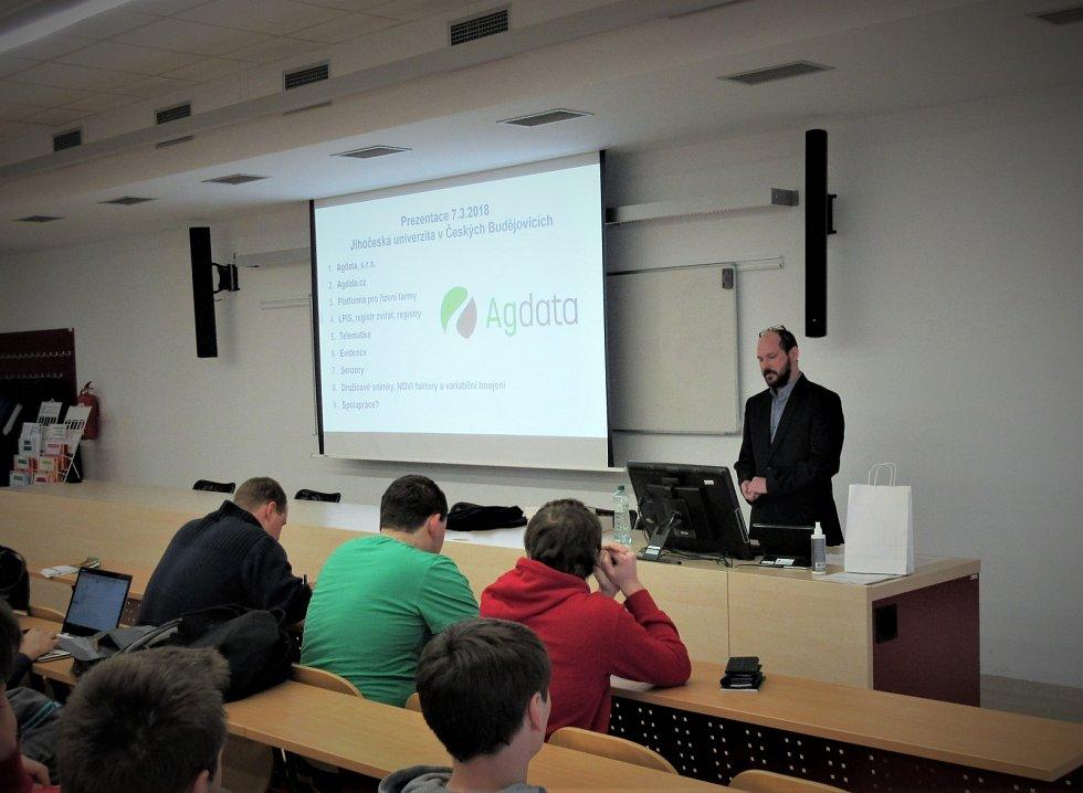 Společnost Agdata měla prezentaci na Jihočeské univerzitě