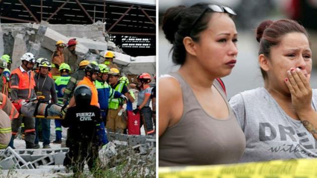 V Mexiku spadlo rozestavěné obchodní centrum