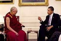Americký prezident Barack Obama přijal dalajlámu v Bílém domě