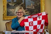 Velvyslankyně Chorvatska v České republice Ljiljana Pancirovová při rozhovoru pro Deník 15. června v Praze.