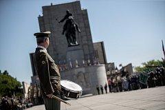 Vzpomínka konce války proběhla 8. května u památníku na pražském Vítkově.