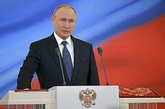 Prezident Vladimir Putin při inauguračním projevu.
