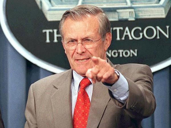 Bývalý americký ministr obrany Donald Rumsfeld.