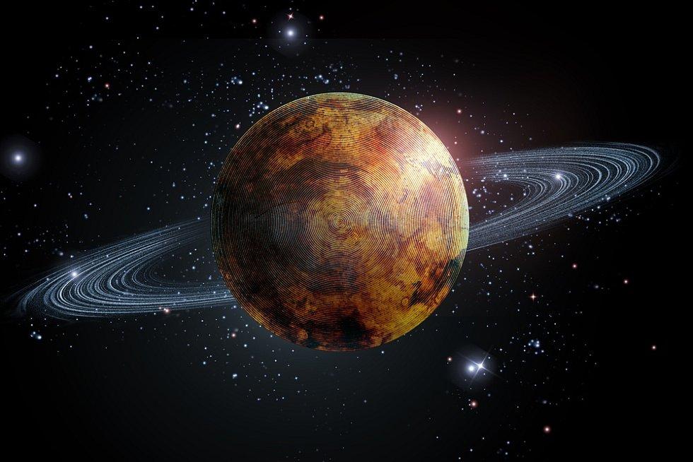Vizualizace Saturnu.