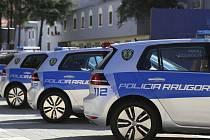 Volkswageny e-Golf albánské policie.