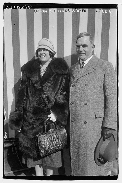 Anton Flettner s manželkou