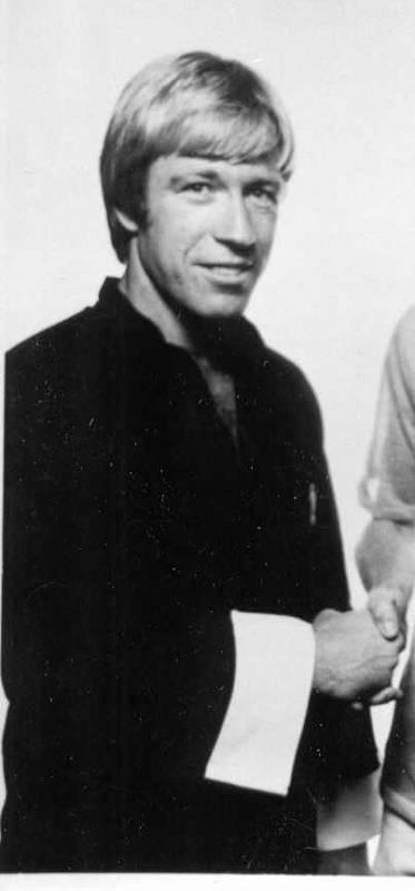 Chuck Norris v roce 1970.