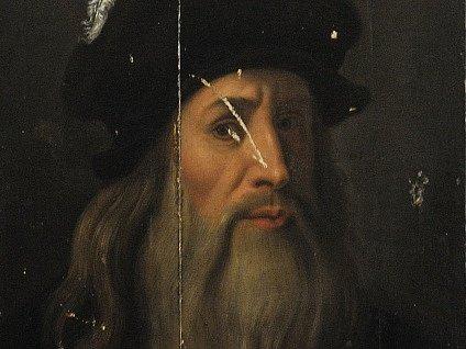 Portrét Leonarda da Vinciho.
