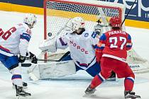 Panarin zvyšuje na 2:0 pro Rusko.