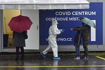 Odběrové místo v areálu FN Ostrava