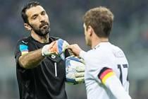 Gianluigi Buffon vyrovnal rekord při přípravném utkání s Německem.