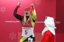 Natalie Geisenbergerová slaví další zlato.