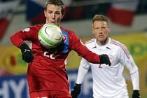 Vladimír Darida (vlevo) byl proti Dánsku na hřišti vidět, gólově se však neprosadil.