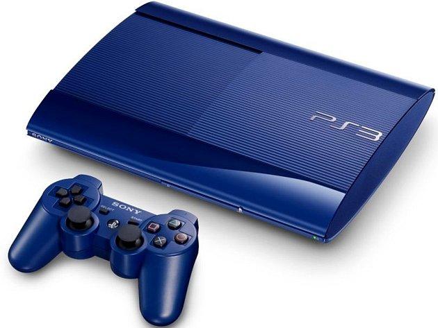 Herní konzole PlayStation 3 Super Slim.