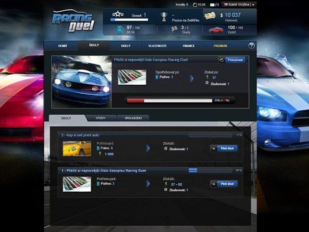 Počítačová hra Racing Duel.